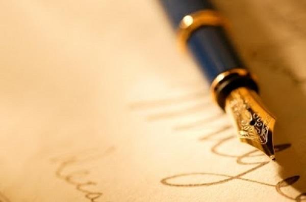 言葉の力―万年筆と便箋の画像