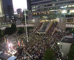 三宅洋平 選挙フェスの様子(2016年7月9日 品川駅前)